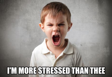 i'm more stressed