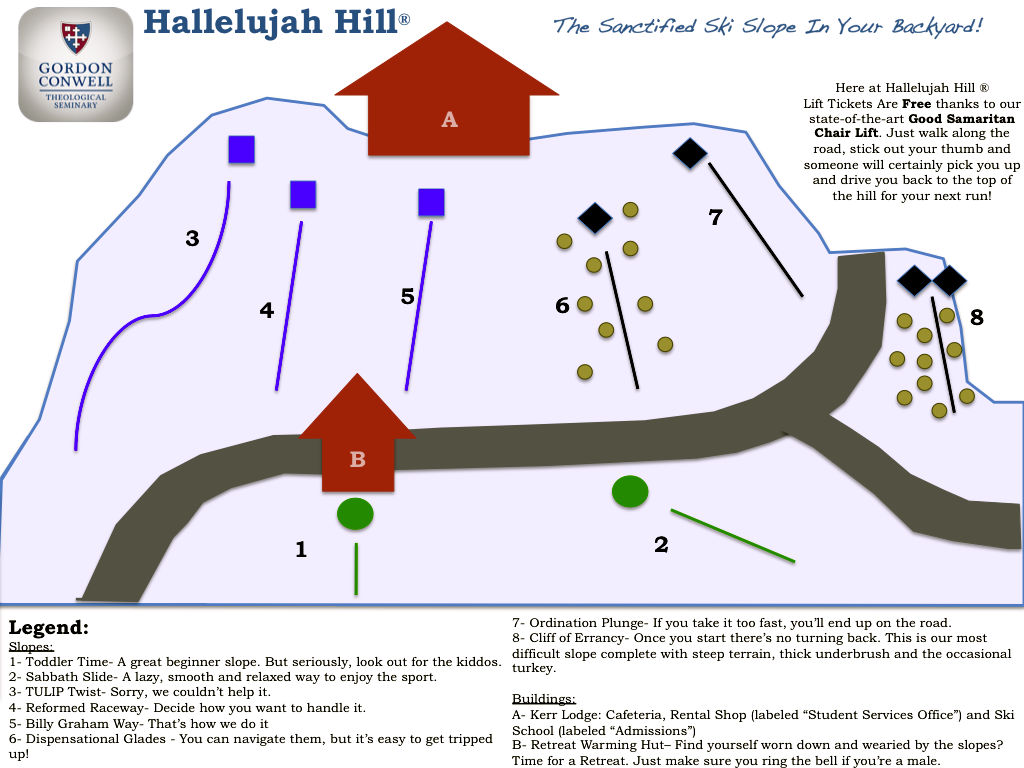 Halleljuah Hill Trail Map