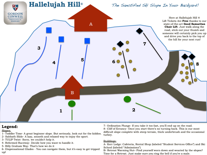 Halleljuah Hill Trail Map
