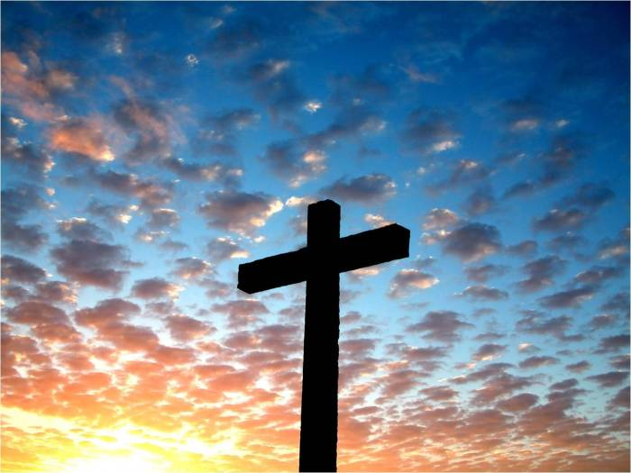 Because how can I write a post about Easter and cynicism without at least ONE picture of a cross at sunrise? Okay, sorry. I'll stop.