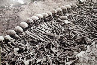 Bones from the Armenian Genocide of 1915 which killed somewhere between 1 and 1.5 million people.