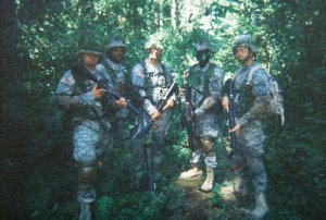 Not Vietnam, this blurry photo is from some training exercises myself and fellow cadets conducted at Fort Lewis.