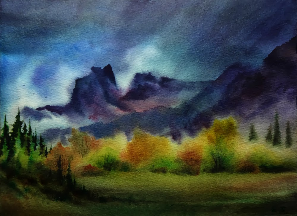 Stormy Weather- painting by Arena Shawn