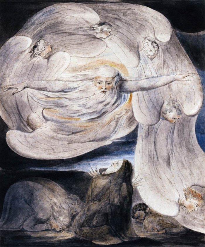 Job Answers God by William Blake
