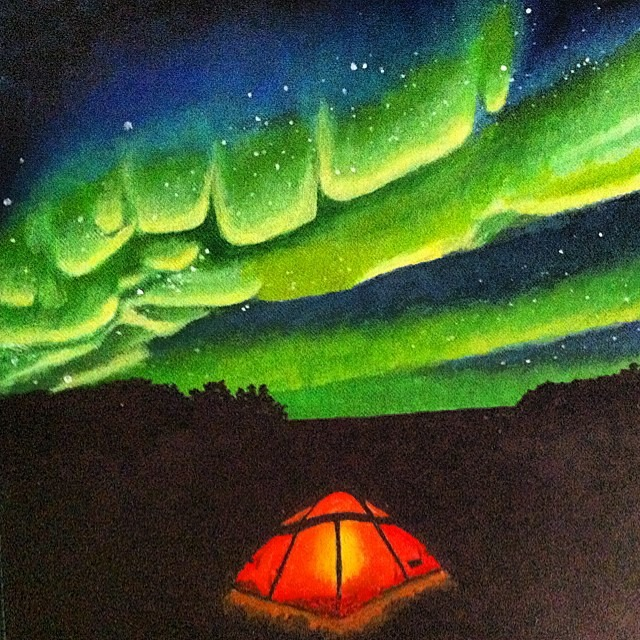 painting & A Tent in the Mountains (Until You Hear) u2013 All My Roads